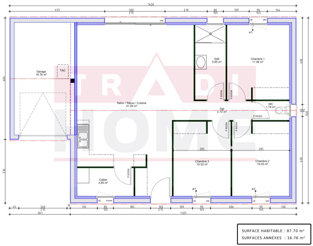 Maison traditionnelle - Prima 88 – 3